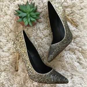 Shi Ombré sparkle heels
